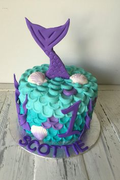21 piece under the sea/mermaid cake topper set by VanillaRoom