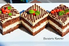 Romanian Desserts, Mcdonalds, Gingerbread, Sweet Treats, Food And Drink, Cakes, Sweets, Mint, Cake Makers