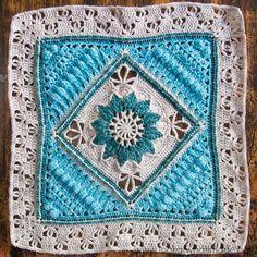 "Charlotte Large Crochet Square - Part 3 of 3, takes your square up to 17"" approx. By Dedri Uys at Look At What I Made. Parts 1 and 2 are linked."