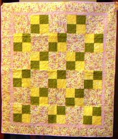 A pretty pastel quilt, made by MaryJo Douglass of Oklahoma.  We have angels all over the country!
