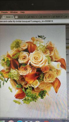 Sweet Peach Rose & Calla Lily Bridal Bouquet - peach roses and calla lilies - bouquets bingley Fall Bouquets, Fall Wedding Bouquets, Fall Wedding Flowers, Bride Bouquets, Autumn Wedding, Wedding Colors, Autumn Flowers, Wedding Ideas, Flower Bouquets