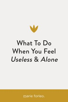 """Is your mind a bully? Feel useless, alone and lost sight of your intrinsic value? Here's how to deal with the mean voice in your head and get back your self-worth. It doesn't matter what you do for a living, how many friends you have or how """"successful"""" you may appear to be. Learn three ways to get back on track anytime you feel down. #marieforleo #feelalone #feelingdown #encouragement #selfworth #selflove Feeling Alone, Feeling Down, How Are You Feeling, Intrinsic Value, Marie Forleo, Back On Track, Third Way, Achieve Your Goals, Inspirational Videos"""