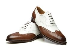 SHOEPASSION.com – Full-Brogue Oxford in white and dark brown