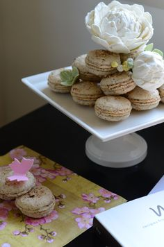 Macarons and Edible Peonies
