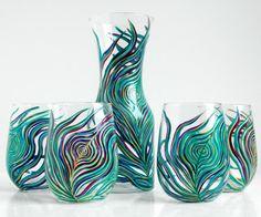 Black Tree Glass Candle Holder by MaryElizabethArts on Etsy