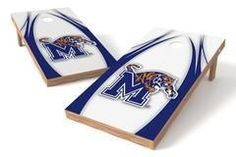 Memphis Tigers Single Cornhole Board - The Edge