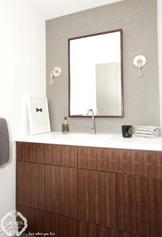 Handsomely styled for a classic vanity Vanity, Bath, Mirror, Inspiration, Furniture, Classic, Home Decor, Style, Painted Makeup Vanity