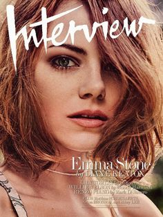 Emma Stone For Interview Magazine #hair #bob #celebrity
