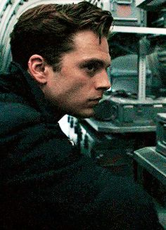 He is so cleaned up in the first movie but when he becomes the winter solider when hydra steals his thoughts and puts him on a leash his hair grows he has tiny hairs on his face and he isn't the good clean Bucky we know he's jagged unscrewed lost but at the end he tries to come back he tries to remember especially when he saved Steve even though he walks away..... Maybe that made sense but I just thought that and now I have these feels