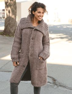Basic patterns - Free knitting patterns and crochet patterns by DROPS Design Crochet Coat, Knitted Coat, Mohair Sweater, Crochet Clothes, Knit Cardigan Pattern, Jacket Pattern, Knitting Patterns Free, Free Knitting, Free Pattern