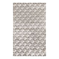 Lattice Hand Knotted Pewter Area Rug