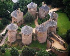 Château de Lassay, Lassay-les-Châteaux, Mayenne, France. The original castrum or castellum, built in the early years of the twelfth century, was probably in a motte and bailey castle. The present castle was classé as a monument historique in 1862 and is still a private residence.