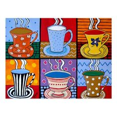 I love my morning coffee/tea by Julie Ellison Promo Code: ZS Art Drawings For Kids, Drawing For Kids, Art For Kids, Winter Art Projects, School Art Projects, 4th Grade Art, Collaborative Art, Art Lessons Elementary, Art Lesson Plans