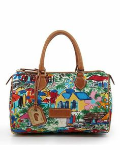 Dooney & Bourke Nylon Print Satchel Dooney & Bourke, To SEE or BUY just CLICK on AMAZON right HERE http://www.amazon.com/dp/B00C3M7JRK/ref=cm_sw_r_pi_dp_u1qjtb15CQV69ZD1