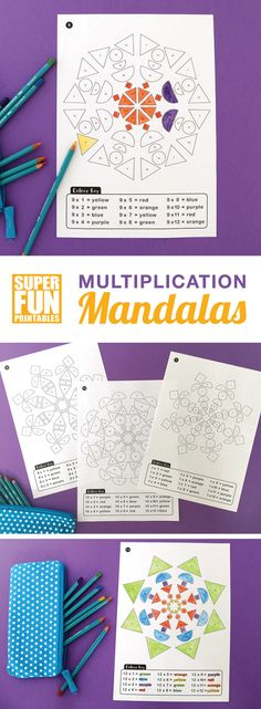 Multiplication mandalas