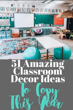 51 Best Classroom Decoration Ideas - Chaylor & Mads - - 51 amazing classroom decoration ideas including how to create a cozy reading nook, an amazing teacher space, awesome bulletin boards and wait until you see this. Elementary Classroom Themes, Kindergarten Classroom Decor, Classroom Decor Themes, Middle School Classroom, First Grade Classroom, New Classroom, Classroom Design, Classroom Organization, Creative Classroom Decorations