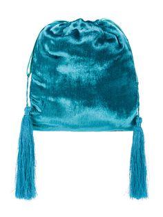 Shop Attico velvet pouch bag.
