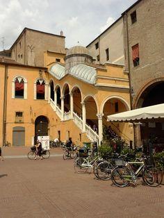 Lo scalone del Palazzo Municipale, Ferrara (FE), Italy
