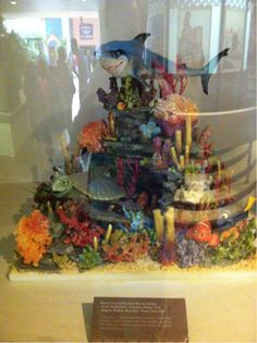 Awesome Finding Nemo chocolate sculpture at the Ghirardelli display at the #Epcot Food and Wine Festival! #Disney