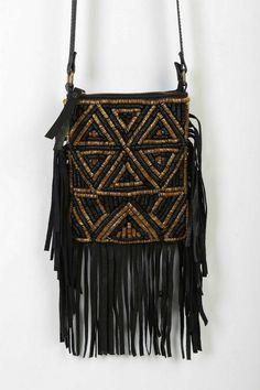Ecote Jasmina Fringe Mini Crossbody Bag