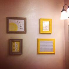 Yellow and grey decor