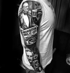 Click the website link to view our gallery to get the Best Large Tattoos For Men. Gangster Tattoos, Badass Tattoos, Tattoos For Guys, Godfather Tattoo, The Godfather, Retro Tattoos, Tattoo Mafia, Christmas Tattoo, Geometric Sleeve