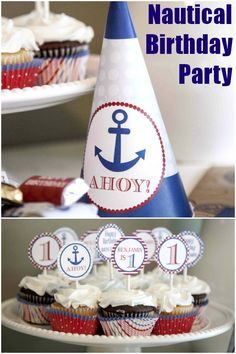Nautical 1st Birthday Party... wish I would have seen this before