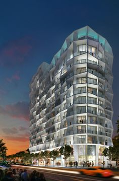 Studio Gang Reveals 14-Story Residential Tower Planned for Miami Design District