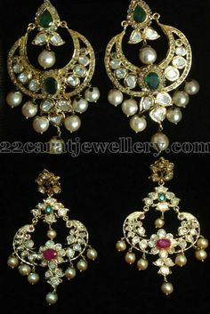 Jewellery Designs: Pachhi Work Chandbalis