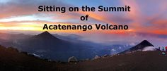Summit on Acatenango volcano
