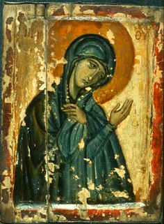 Virgin Mary · The Sinai Icon Collection Byzantine Icons, Byzantine Art, History Of Romania, Queer Art, Icon Collection, Art Icon, Orthodox Icons, Blessed Mother, Sacred Art