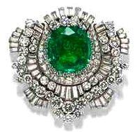 Bvlgari Emerald & Diamond Clip
