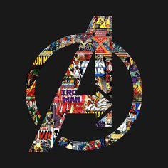 I'm such a nerd when it comes to Marvel. I love the Avengers. Marvel Avengers, Marvel Dc Comics, Marvel Heroes, Avengers Symbols, Marvel Logo, Avengers Shirt, Avengers Poster, Marvel Art, Die Rächer