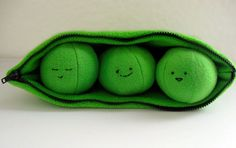 PDF Sewing Pattern - 3 Peas in a Pod Zippered Plush Toy by tiedyediva: $5.95  #Peas_in_a_Pod #Toy #Plushie #tiedyediva