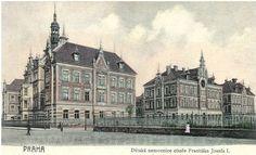 Franz Joseph Children's Hospital Na Karlove, Sokolovska Street, later Children's University Hospital na Karlove.