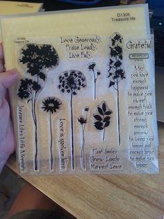 CTMH My Acrylix TREASURE LIFE Stamp Set FLOWER leaves plants Close to my Heart #CloseToMyHeart #FlowersPlantsLeavesSayingsFlourishFloral