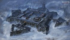 Roman fortification /Early Concept Art For this kind of overviews ,I prefer first to block the layout with simple,initially build on SketchUp modules...