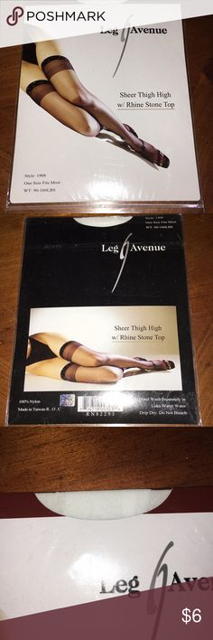 Fredericks of Hollywood thigh high bundle White with rinestone top  2 pair black with seam up the back full stockings  One pair black with scallop top thigh high    One size fits most. 90-160LBS Leg Avenue Accessories Hosiery & Socks