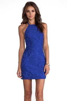 Maurie & Eve Illusion Dress in Cobalt Brocade from REVOLVEclothing