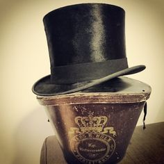 My silk top hat that fits my 62 cm large head. One has to search long and hard for sizes like this.