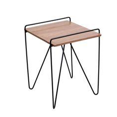 Loft Mid Century Modern Walnut Wood End Table