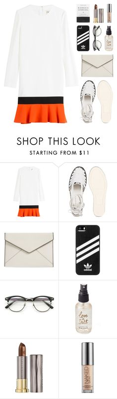 """""""goodbye"""" by bestraan ❤ liked on Polyvore featuring Emilio Pucci, Rebecca Minkoff, adidas, Olivine, Herbivore and Urban Decay"""
