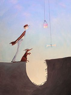 Leap Of Faith by Crispin Korschen - prints Wellington School, Leap Of Faith, Texture Painting, Spring 2015, Awesome Stuff, Paper Art, Dog Cat, Mad, Illustrations