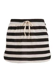 Pull on striped skirt