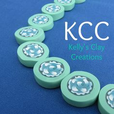 Green rose polymer clay beads