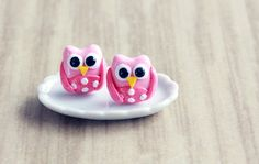 Hey, I found this really awesome Etsy listing at https://www.etsy.com/listing/213025523/polymer-clay-owl-stud-earrings