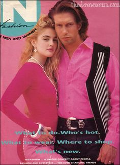 Drew Barrymore Stephen Baldwin in In Fashion magazine - September 1991