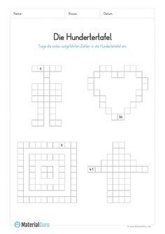 ein kostenloses mathe arbeitsblatt zum thema hundertertafel auf dem die kinder puzzleteile. Black Bedroom Furniture Sets. Home Design Ideas