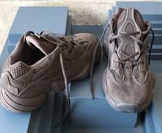 "fd0d3d2c84659 YEEZY MAFIA on Instagram  ""NAME  YEEZY DESERT RAT 500 MATERIAL  COW LEATHER  + SUEDE + MESH TECHNOLOGY  adiPRENE+"
