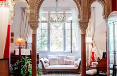 I find this Bohemian Home with a touch of Moroccan design style very beautiful. Moroccan Design, Moroccan Decor, Moroccan Style, Moroccan Bedroom, Moroccan Lanterns, Living Room Light Fixtures, Living Room Lighting, Moroccan Interiors, Colorful Interiors